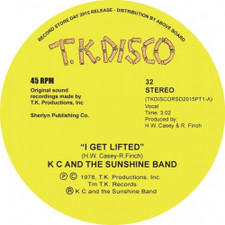 "KC & The Sunshine Band - I Get Lifed (Todd Terje Remix) RSD - 10"" Vinyl"