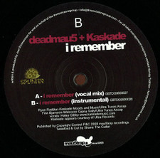 "Deadmau5 + Kaskade - I Remember - 12"" Vinyl"