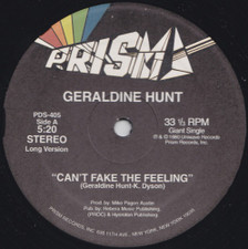 "Geraldine Hunt - Can't Fake the Feeling - 12"" Vinyl"