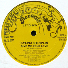 "Sylvia Striplin - Give Me Your Love - 12"" Vinyl"