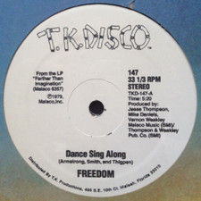 """Freedom - Dance Sing Along / Get Up And Dance - 12"""" Vinyl"""