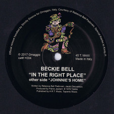 "Beckie Bell - In The Right Place - 12"" Vinyl"