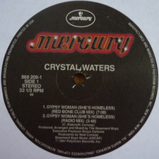 """Crystal Waters - Gypsy Woman (She's Homeless) - 12"""" Vinyl"""