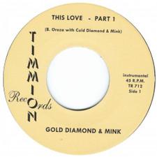"Gold Diamond & Mink - This Love - 7"" Vinyl"