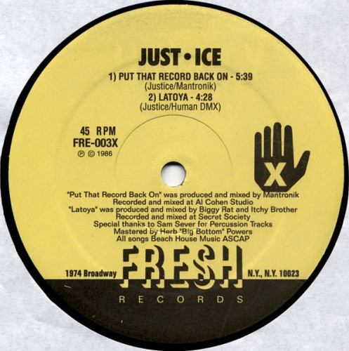Just-Ice - Put That Record Back On / La Toya - 12