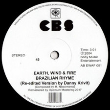 "Earth, Wind & Fire - Brazilian Rhyme / Runnin' (Danny Krivit Edits) - 12"" Vinyl"