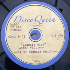 "Lenny Williams / Chaka Khan - Midnight Girl / Ain't Nobody (Frankie Knuckles Edits) - 12"" Vinyl"