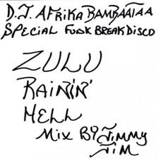 DJ Afrika Bambaataa - Zulu Rainin' Hell Mix - LP Vinyl