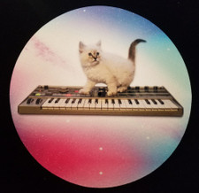 Cats On Synthesizers In Space - Micro Korg - Single Slipmat