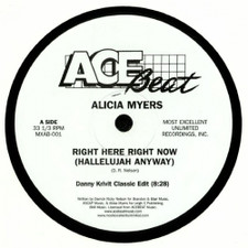 """Alicia Myers - Right Here Right Now (Hallelujah Anyway) - 12"""" Vinyl"""
