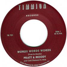 "Pratt & Moody / Cold Diamond & Mink - Words Words Words - 7"" Vinyl"