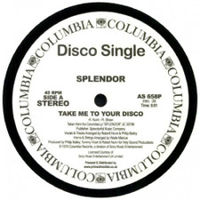 "Splendor - Take Me To Your Disco / Special Lady - 12"" Vinyl"