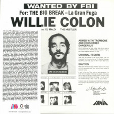 Willie Colon - Wanted By FBI / The Big Break - LP Vinyl