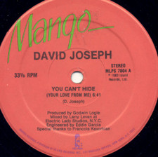 "David Joseph - You Can't Hide Your Love From Me - 12"" Vinyl"