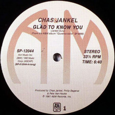 Chas Jankel - Glad To Know You - 12' Vinyl