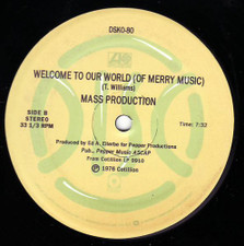 "Mass Production - Cosmic Lust / Welcome To Our World - 12"" Vinyl"
