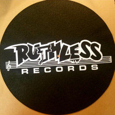 Ruthless Records - White On Black Logo - Single Slipmat