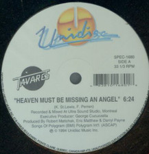 "Tavares - Heaven Must Be Missing An Angel / More Than A Woman - 12"" Vinyl"