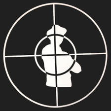 Public Enemy - Crosshairs (White On Black) - Single Slipmat