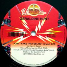 "Geraldine Hunt - Can't Fake The Feeling (Unidisc) - 12"" Vinyl"