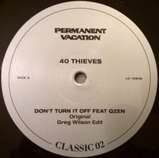 "40 Thieves - Don't Turn It Off - 12"" Vinyl"