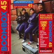"Various Artists - Boombox 45: Early Independent Hip Hop, Electro & Disco Rap 1979-82 RSD - 5x 7"" Vinyl Box Set"