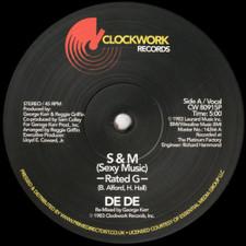 """De De - S&M (Sexy Music) - 12"""" Vinyl"""