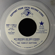 """The Family Daptone - Hey Brother (Do Unto Others) - 7"""" Clear Vinyl"""