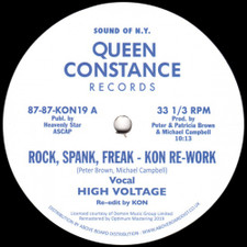 "High Voltage / Chain Reaction - Rock, Spank, Freak (Kon Rework) / Dance Freak (Moplen Re-Freak) - 12"" Vinyl"