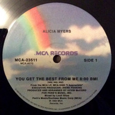 "Alicia Myers - You Get The Best From Me - 12"" Vinyl"