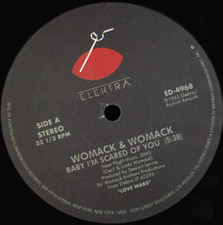 "Womack & Womack / Dee Dee Bridgewater - Baby I'm Scared Of You / Sweet Rain - 12"" Vinyl"