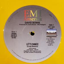 """David Bowie - Let's Dance / Fame - 12"""" Colored Vinyl"""