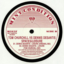 "Tom Churchill vs. Dennis DeSantis - Spaces / Leisure - 12"" Vinyl"