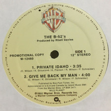 "The B-52's - Private Idaho / Give Me Back My Man / Planet Claire - 12"" Vinyl"