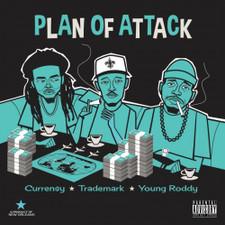 Curren$y / Trademark Da Skydiver / Young Roddy - Plan Of Attack - LP Vinyl
