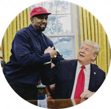 Kanye West & Donald Trump - Together Again - Single Slipmat