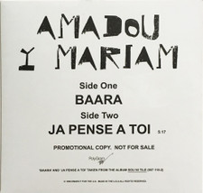"Amadou & Mariam - Baara / Je Pense A Toi - 12"" Vinyl"