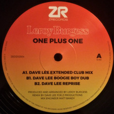 "Leroy Burgess - One Plus One - 12"" Vinyl"
