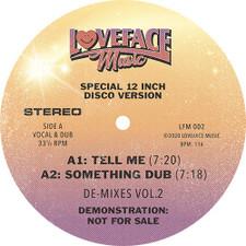 """Loveface - De-Mixes Vol. 2 - 12"""" Vinyl"""