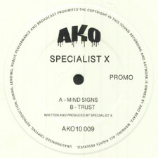 "Specialist X - Mind Signs / Trust - 10"" Colored Vinyl"