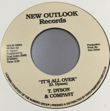 """T. Dyson & Company - It's All Over / First Time RSD - 7"""" Vinyl"""