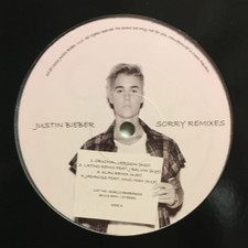 """Justin Bieber - Sorry / Love Yourself (Remixes) - 12"""" Vinyl"""