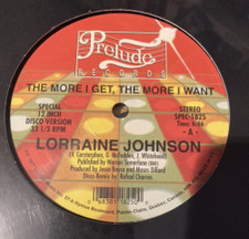 """Lorraine Johnson - The More I Get The More I Want (Unidisc) - 12"""" Vinyl"""
