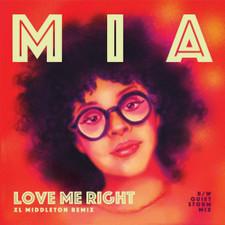 """Mia - Love Me Right (Remixes) (Picture Sleeve) - 7"""" Vinyl"""