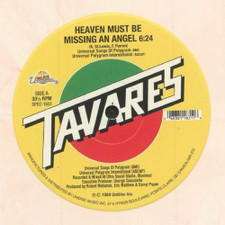 """Tavares - Heaven Must Be Missing An Angel - 12"""" Colored Vinyl"""