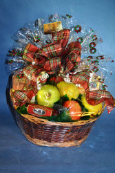 Market Fruit Basket dressed for the Holidays