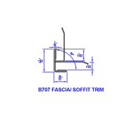 "1/4"" Panel Fascia-Soffit Aluminum Trim Molding x 10' LG"