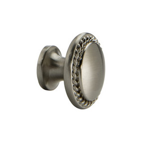 Satin Nickel Rope Knob