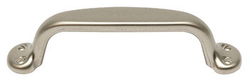 Suitcase Collection - Matte Nickel Pull 3-3/4 in.