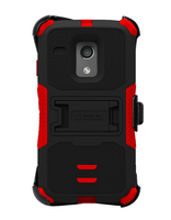 Red and black tri-shield kombo case for moto G